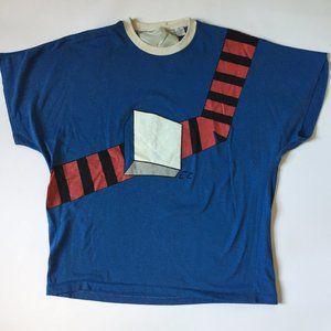 Women's 80s Vintage Cube & Stripe line Graphic Tee